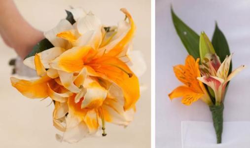 Фото Свадебные букеты из лилй Доминикана
