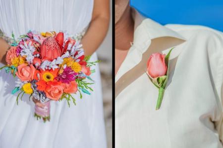 Фото Свадебные букеты из тропических цветов Доминикана
