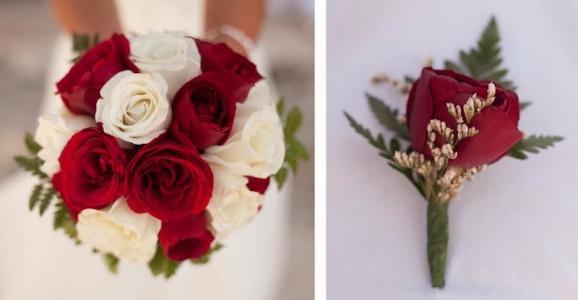 Фото Свадебные букеты из роз Доминикана