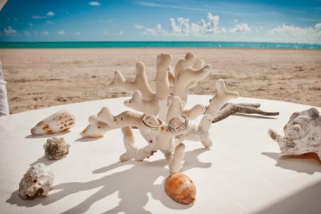 Фото Подушечки и подставки под обручальные кольца Доминикана